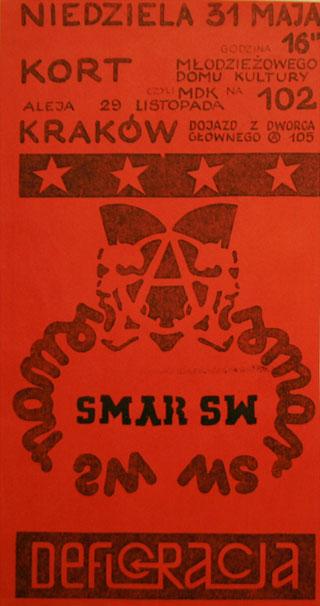 Concert SMAR SW - Kraków - Kort - 31.05.1992