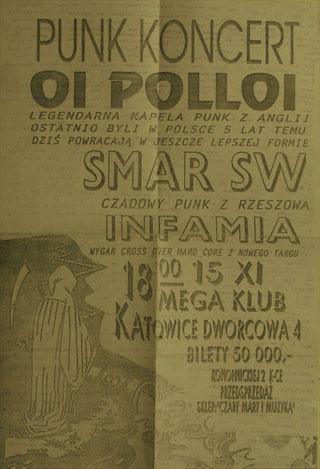 Concert SMAR SW - OI POLLOI - Katowice - Mega Club - 15.11.1994