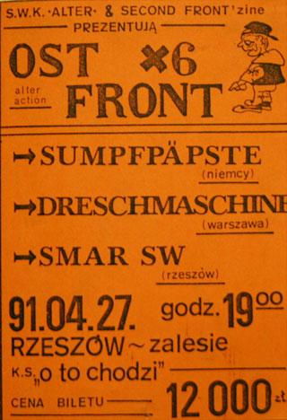Concert SMAR SW - OST FRONT #6 - Rzeszów - O to chodzi - 27.04.1991