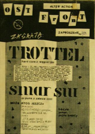 Concert SMAR SW - OST FRONT - Rzeszów - O to chodzi - 17.05.1990