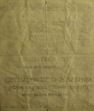 Concert SMAR SW - PUNK PICNIC - Ciechanowiec - 24.08.1991