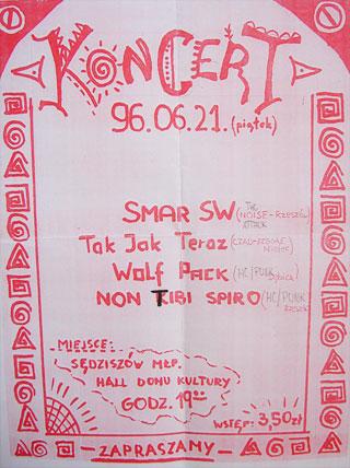 Concert SMAR SW - Sędziszów Małopolski - Hall MDK - 21.06.1996