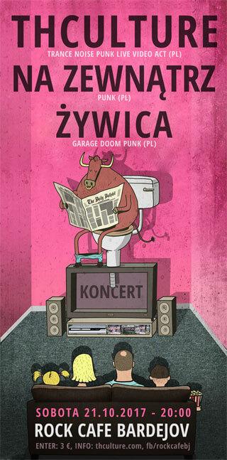 Concert THCulture, Na Zewnątrz and Żywica - Bardejov - ROCK CAFE - 21.10.2017