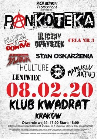 THCulture concert on PANKOTEKA 2020 - Kraków, club Kwadrat - 08.02.2020