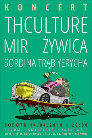 Concert THCulture, Żywica, Mir, Sordina - Radom - Amfiteatr 14.04.2018
