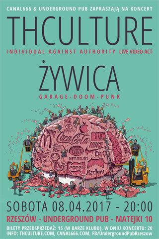 Koncert THCulture i Żywica - Rzeszów UNDERGROUND PUB - 08.04.2017