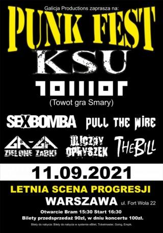 Concert TOWOT Punk Fest Warszawa - Progresja 11.09.2021