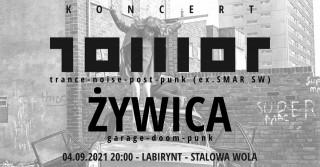 Concert TOWOT + ŻYWICA Stalowa Wola Labirynt 04.09.2021